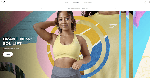 Gymshark international website