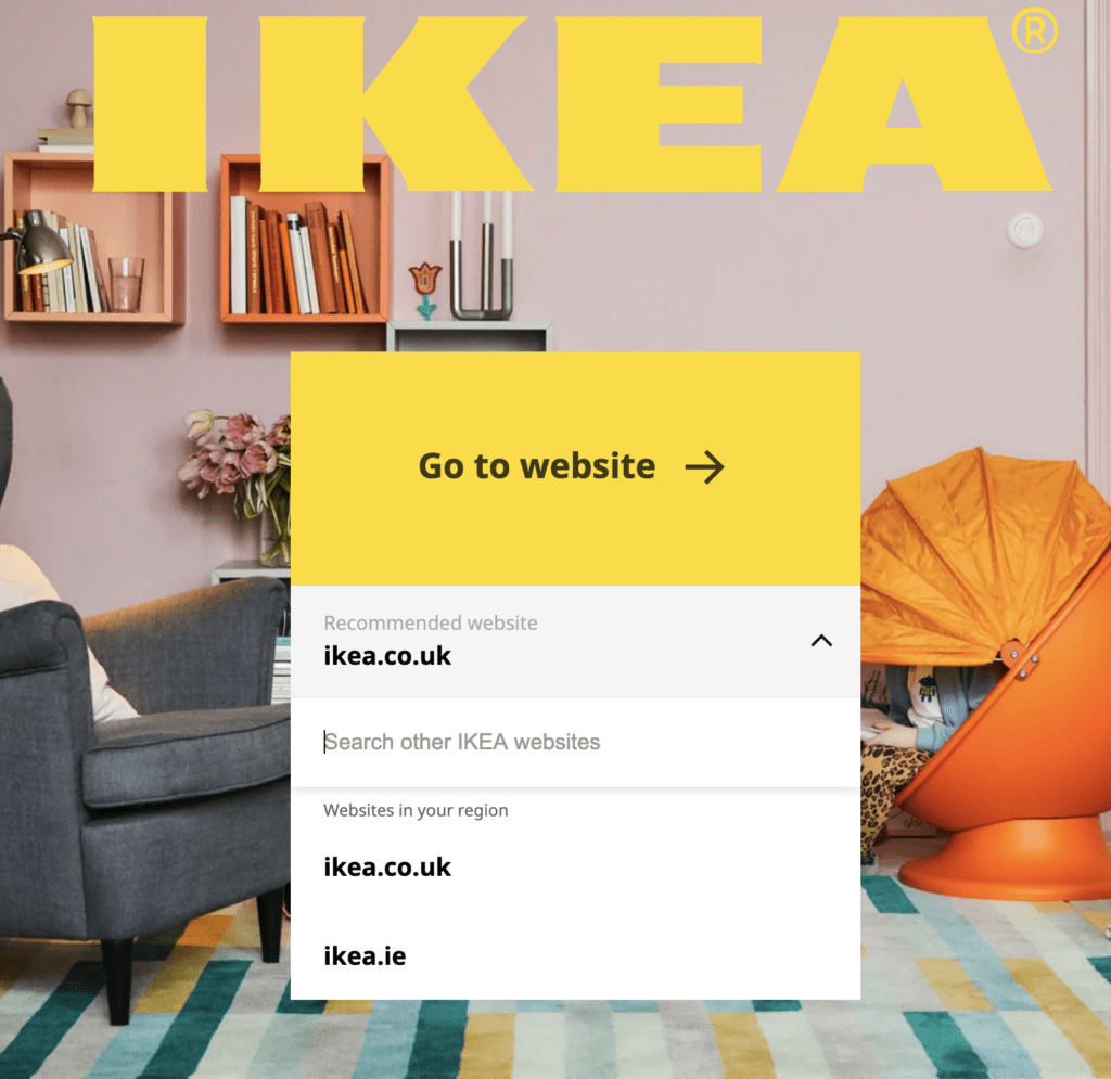 Ikea New Homepage Without Language Selector
