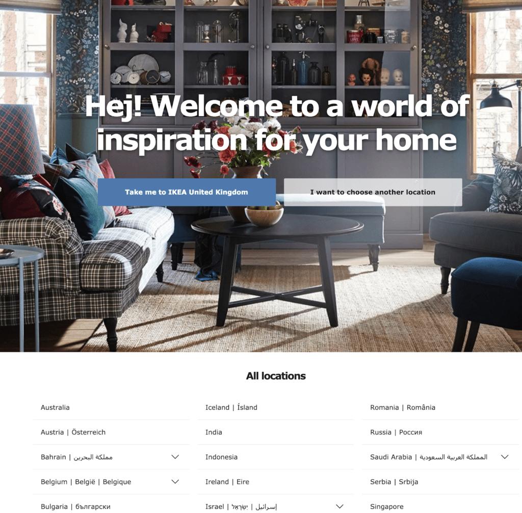 Ikea homepage hreflag