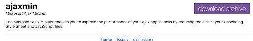 ajaxmin javascript minification tools for eCommerce sites