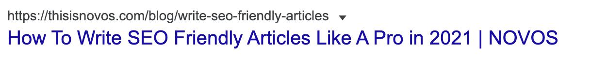 example of SEO friendly URL