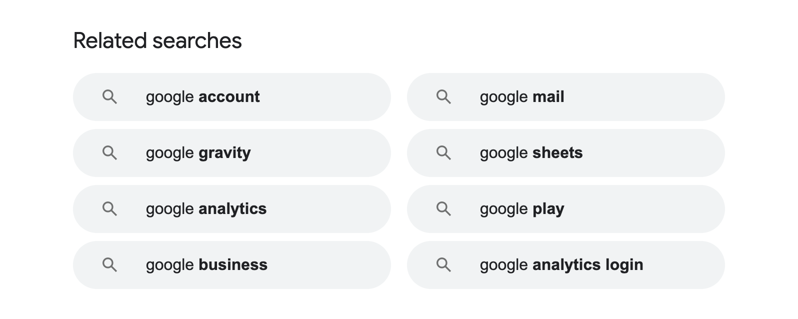 example of google related searches