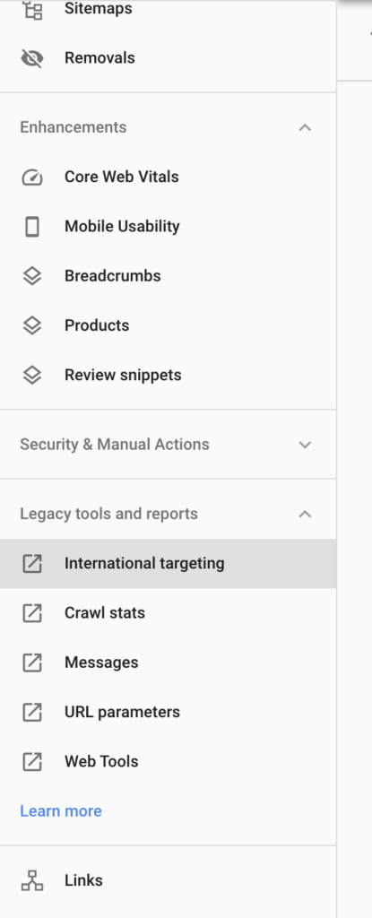 google search console to manage hreflang