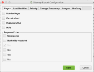 create xml sitemap screaming frog