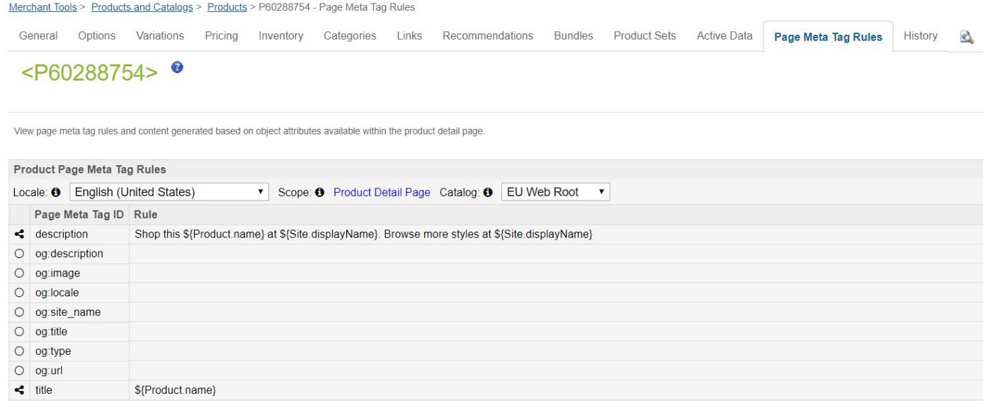 meta tag rules and description in salesforce commerce cloud 1