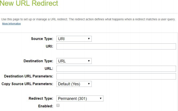 setting up url redirects in salesforce commerce cloud