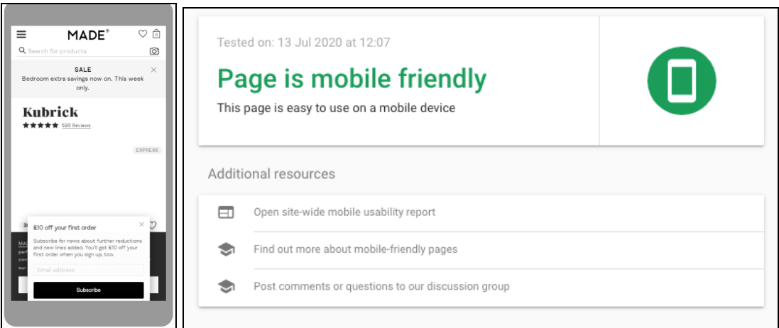 test to check if the page is mobile friendly